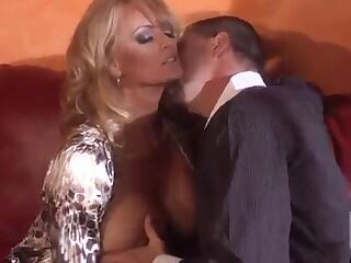 Sensual blonde Stormy Daniels is riding on the hot dick