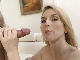 Christie Stevens talking dirty while doing a handjob